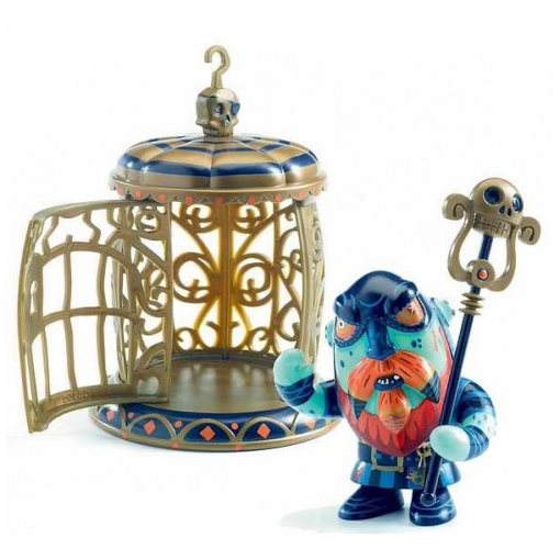 Figura in vinile Arty Toys Pirata Gnomus & Ze cage Djeco