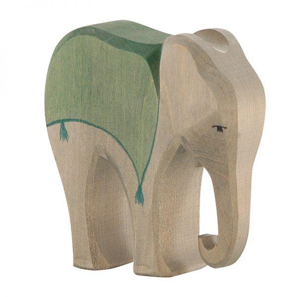 Figura legno Elefante con sella - Ostheimer