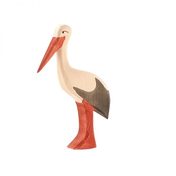 Figura legno cicogna - Ostheimer