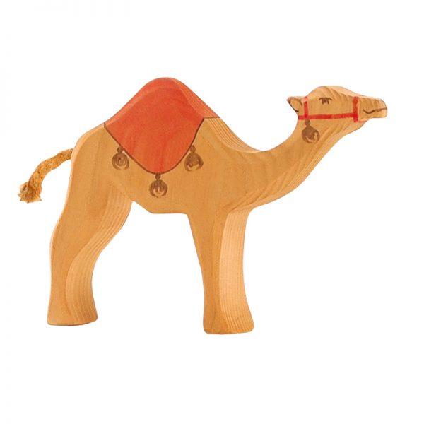 Figura legno Dromedario con sella - Ostheimer