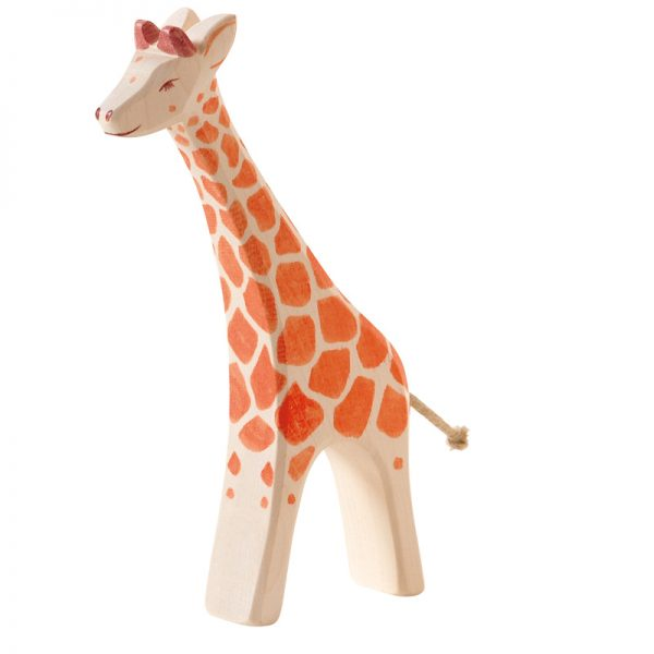 Figura legno giraffa grande che corre - Ostheimer