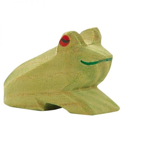 Figura legno rana seduta - Ostheimer