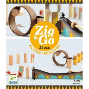 Pista azione reazione ZIG & GO Dring 25 pezzi Djeco