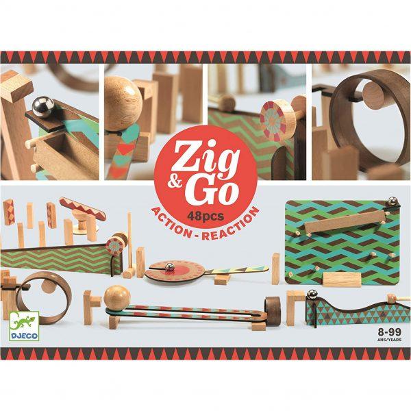 Pista azione reazione ZIG & GO Wroom 48 pezzi Djeco