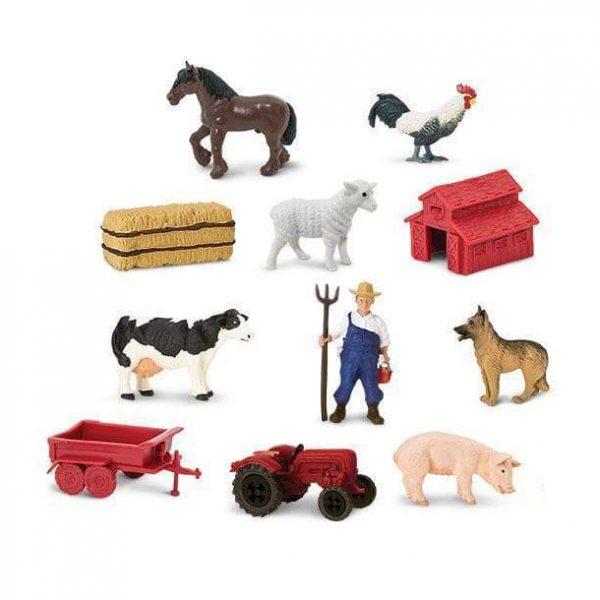 Set 11 miniature vita nella fattoria TOOB® Safari LTD