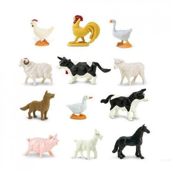Set 12 miniature animali Farm TOOB® Safari LTD