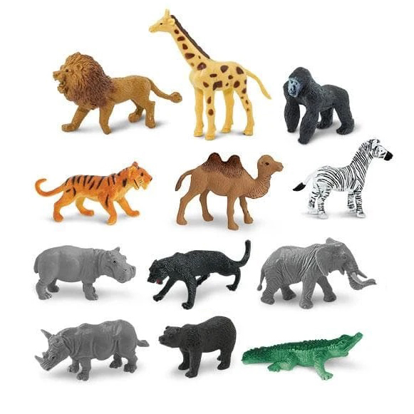 Set 12 miniature animali Wild TOOB® Safari LTD