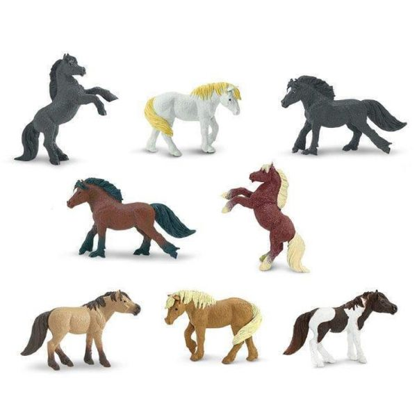 Set 8 miniature Pony della prateria TOOB® Safari LTD