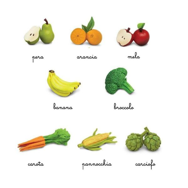 Set 8 miniature frutta e verdura TOOB® Safari LTD