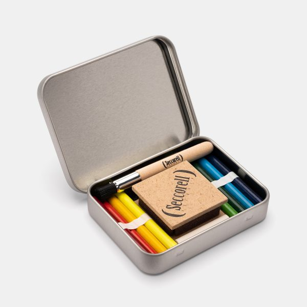 Set grafite colorata Pocket Metal Seccorell