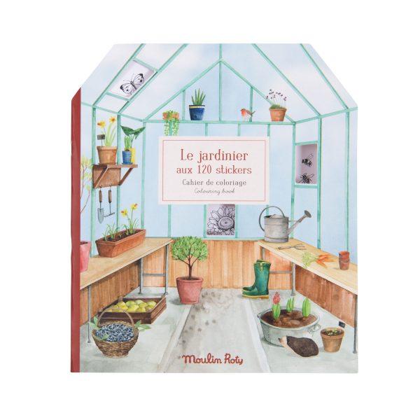 Album da colorare con adesivi Il Giardiniere Le Jardin Moulin Roty