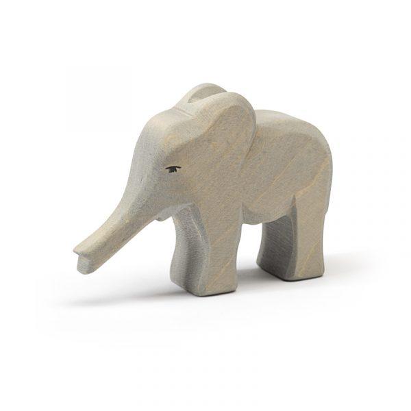 Figura legno Elefante piccolo proboscide giù - Ostheimer