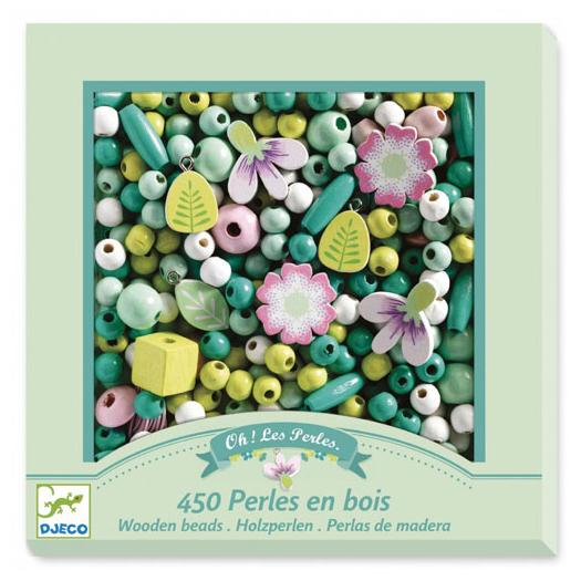 Kit perline per collane e braccialetti Flowers and foliage Djeco