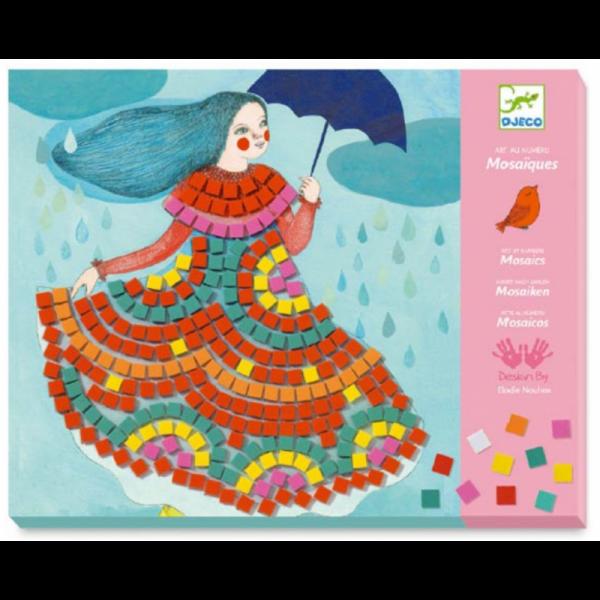 Set artistico Mosaico Party dresses Djeco