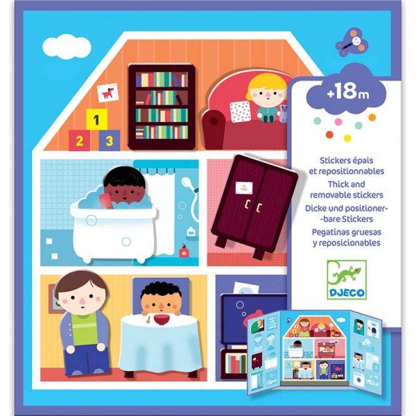 Set da viaggio stickers riposizionabili Casa Djeco