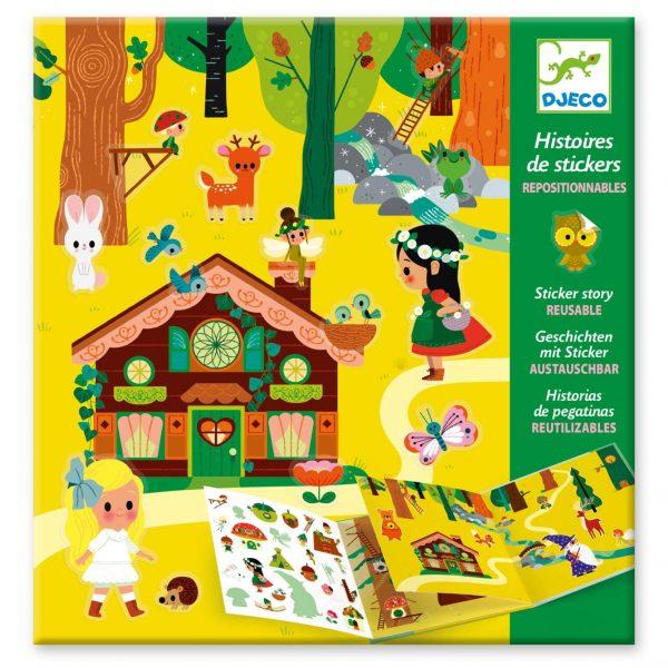 Set da viaggio stickers riposizionabili Foresta incantata Djeco