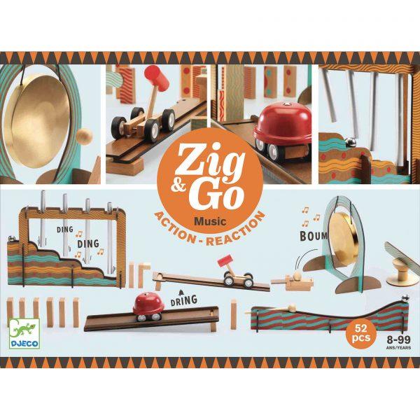Pista azione reazione ZIG & GO Music 52 pezzi Djeco