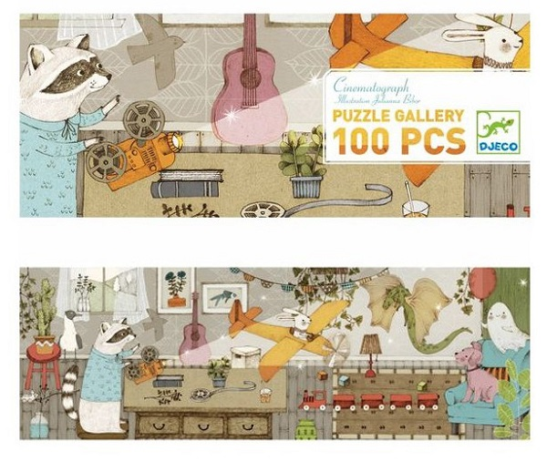 Puzzle Gallery Cinematografo 100 pezzi Djeco