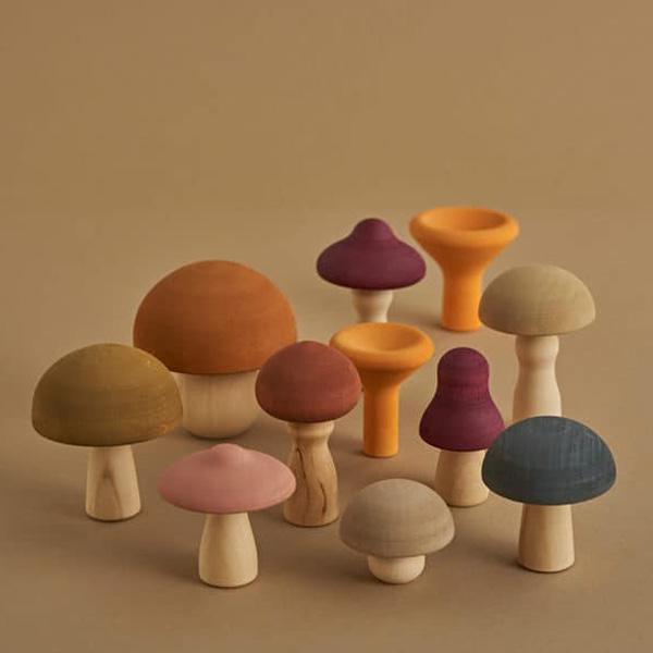 Set 11 Funghi in legno Autunno Raduga Grez