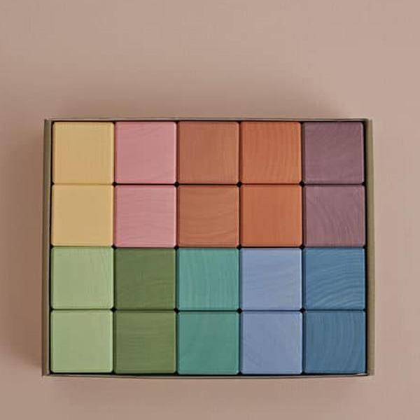 Set 20 cubi Earth pastel Raduga Grez