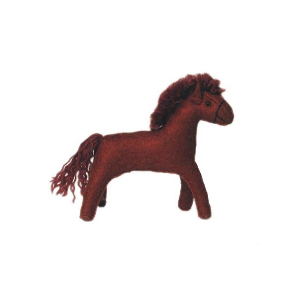 Figura in feltro Waldorf Puledro marrone Gluckskafer