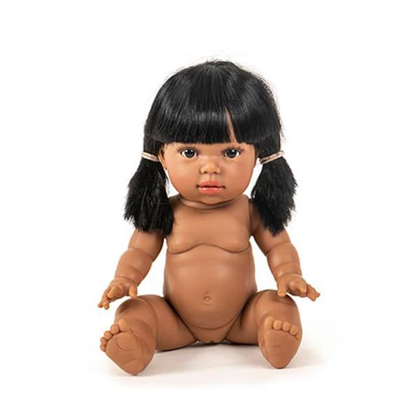 Bambola Baby Doll Latika con capelli Paola Reina