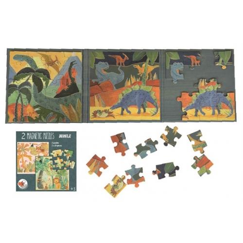 Cartella 2 puzzle magnetico da viaggio Dinosauri Egmont Toys