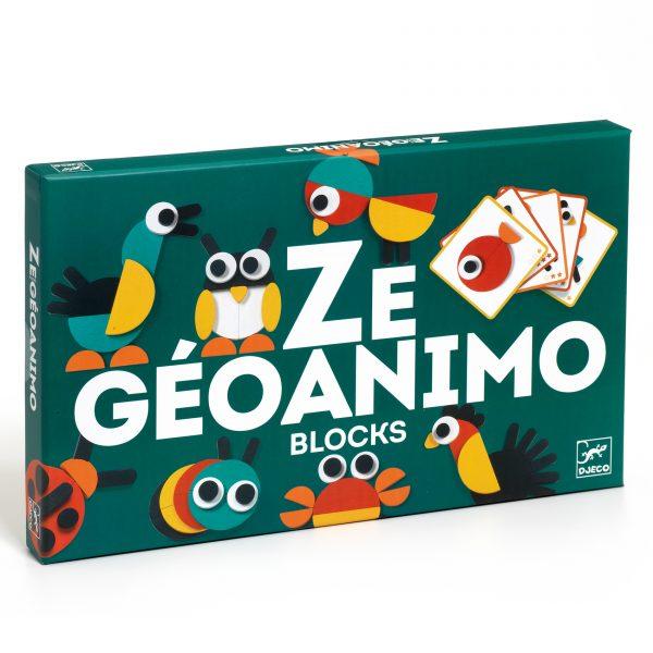 Gioco Costruzioni ZE GEOANIMO BLOCKS in legno Djeco