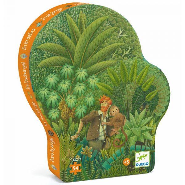 Puzzle Silhouette In the jungle 56 pezzi Djeco
