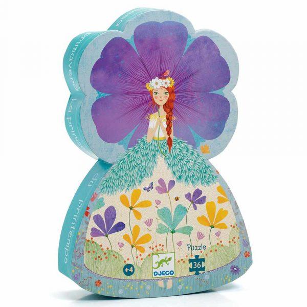 Puzzle Silhouette The princess of spring 36 pezzi Djeco