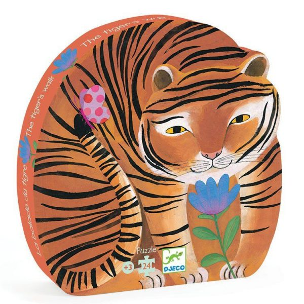 Puzzle Silhouette The tiger's walk 24 pezzi Djeco