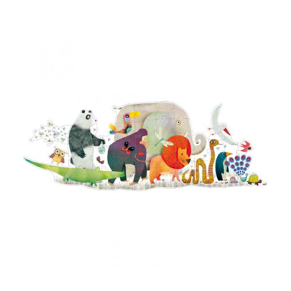 Puzzle gigante Parata degli animali 36 pezzi Djeco