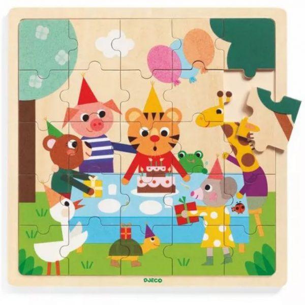 Puzzle legno con cornice Happy Bday 25 pezzi Djeco