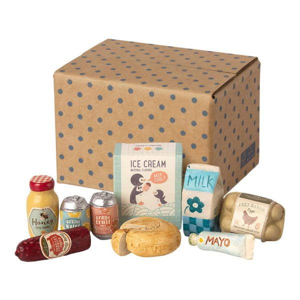 Set gioco miniatura Grocery box Maileg