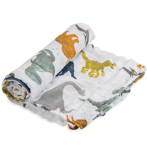 1 Telo mussola di cotone Piccolo Dinosauri 120x120 Little Unicorn