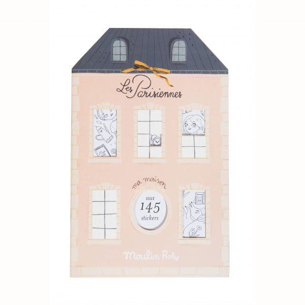 Album da colorare con 145 adesivi Les Parisiennes Moulin Roty