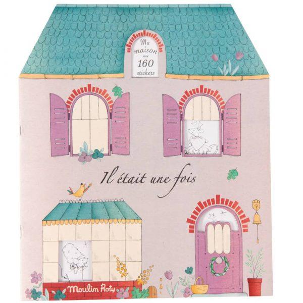 Album da colorare con 160 adesivi Il était une fois Moulin Roty