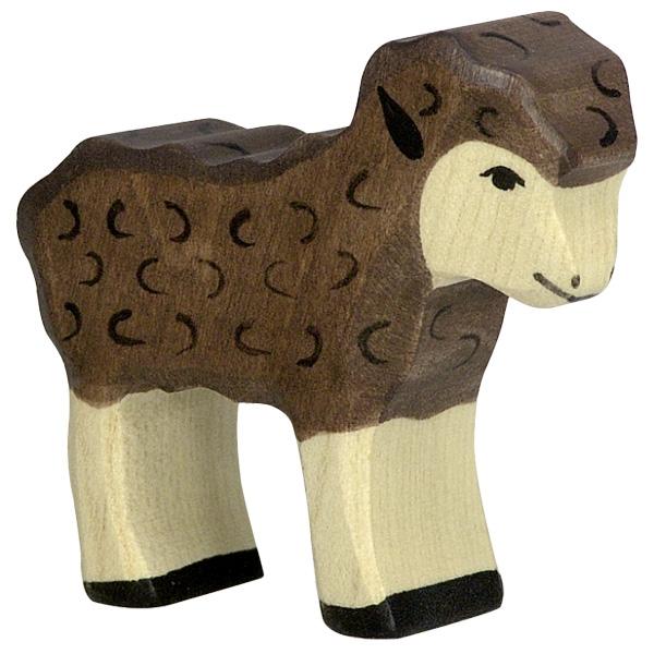 Figura legno Agnello nero - Holztiger