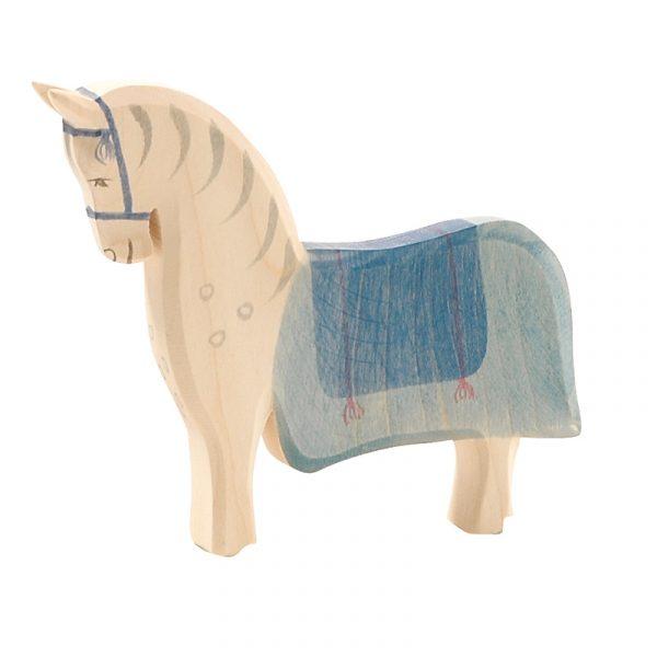 Figura legno Cavallo con sella - Ostheimer
