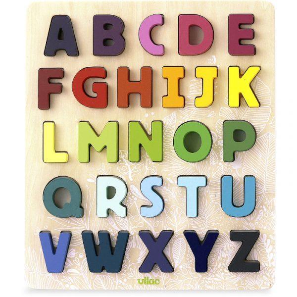 Puzzle figure alfabeto legno arcobaleno Vilac