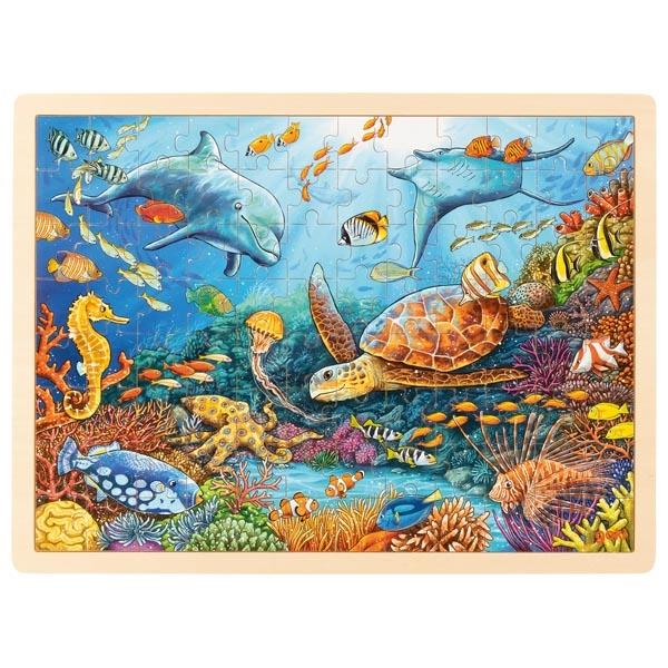 Puzzle legno Barriera corallina Goki