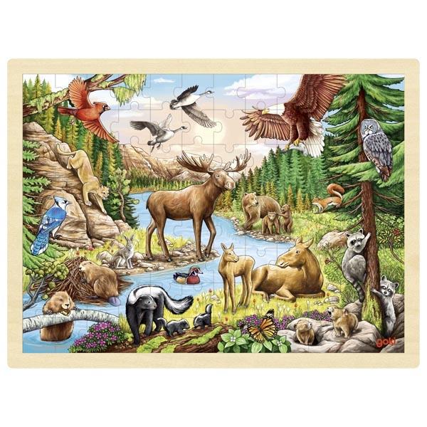 Puzzle legno natura selvaggia Goki