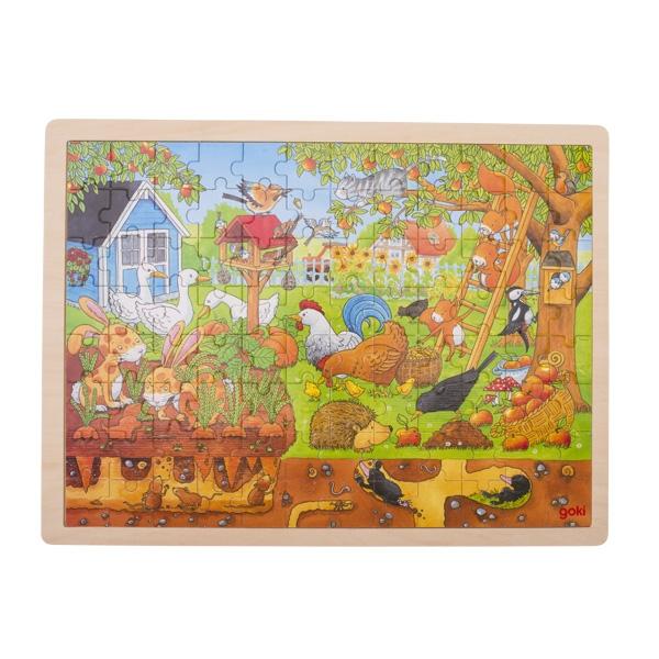 Puzzle legno nel giardino Goki
