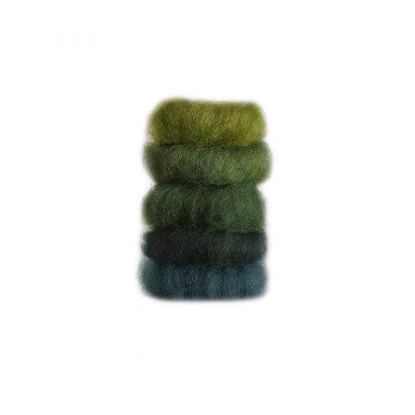 Lana delle fiabe 5 colori 50 gr verde