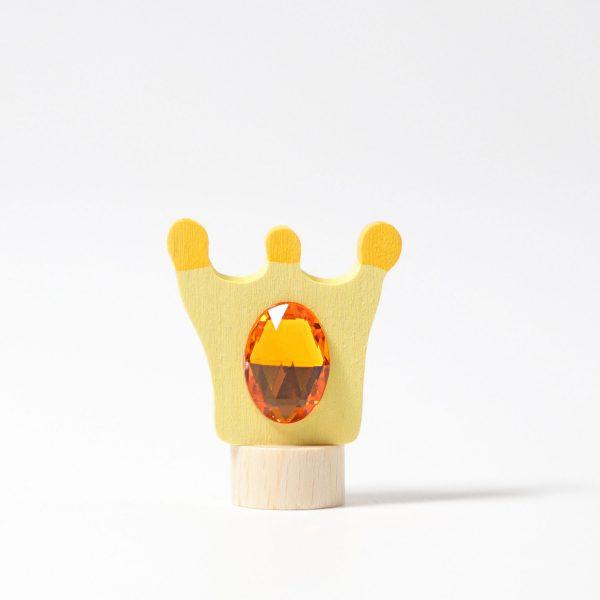 Figura decorativa legno corona Grimm's