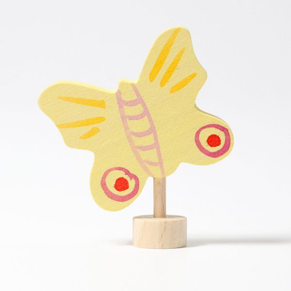 Figura decorativa legno farfalla gialla Grimm's
