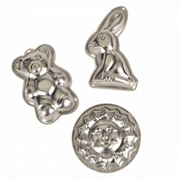 Set 3 stampi per dolci in metallo Egmont Toys