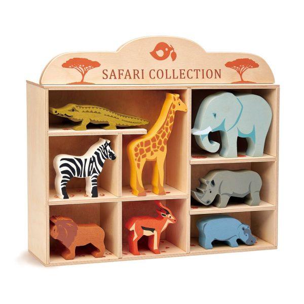 Set animali della savana + teca Tender Leaf