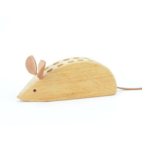 Porta matite topo in legno massello Drei Blatter