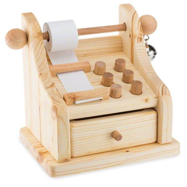 Registratore di cassa in legno massello Drei Blatter